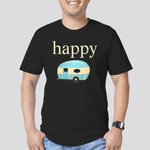 Personality_HappyCampe Men's Fitted T-Shirt (dark)