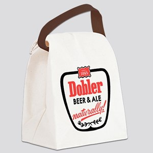 doblerbeerwhite Canvas Lunch Bag