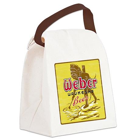 weberwaukeshabeer Canvas Lunch Bag