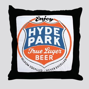 hydeparkbeerwhite Throw Pillow