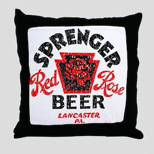 sprengerredrosebeer Throw Pillow
