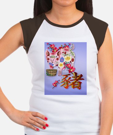 PatchYear Of The Pig Women's Cap Sleeve T-Shirt