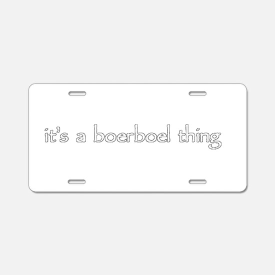 Cute Boerboel Aluminum License Plate