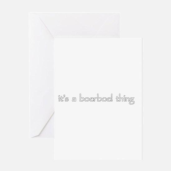 Unique Boerboel Greeting Card