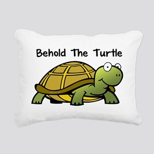 beholdturtle Rectangular Canvas Pillow