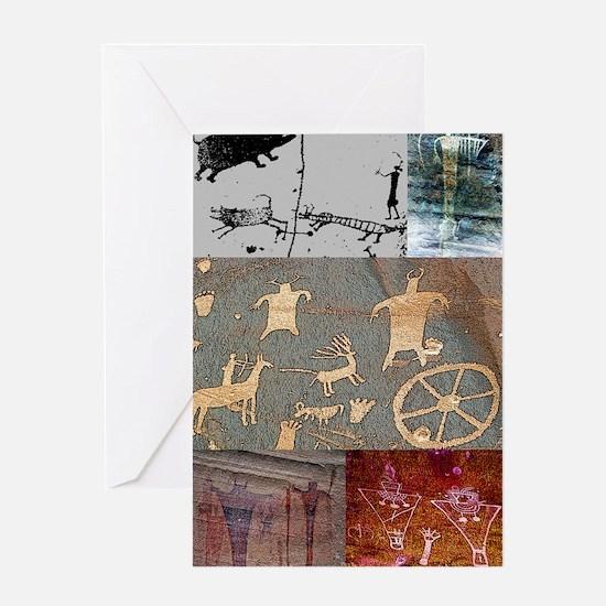 utah rock art-journal Greeting Card
