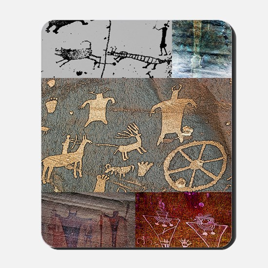 utah rock art-journal Mousepad