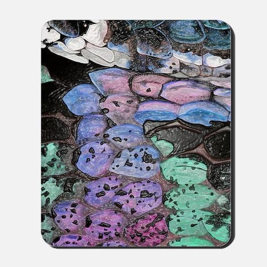 purple snake journal in plastic Mousepad