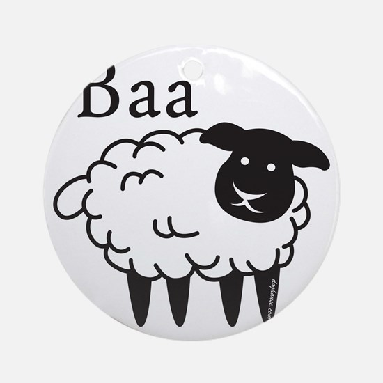 baa Round Ornament