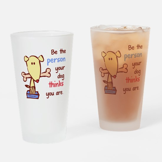 whitebetheperson Drinking Glass