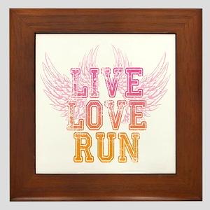 live love run Framed Tile