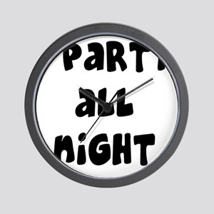 ipartyallnight Wall Clock