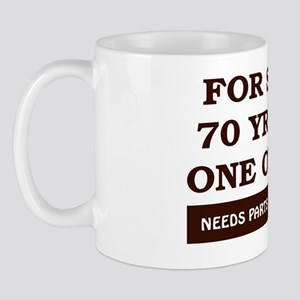 For Sale 70 Year Old Birthday Mug