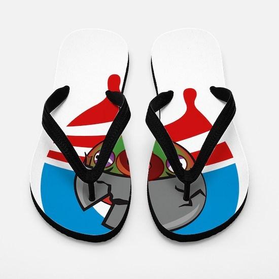 warpigOnBlack Flip Flops