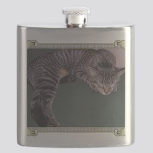 Napping Cat-Scroll-M Flask