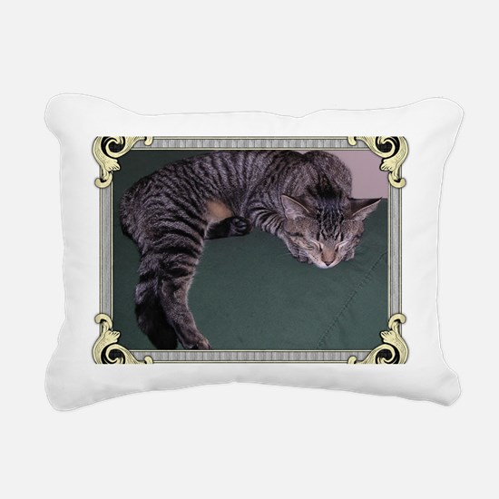 Napping Cat-Scroll-M Rectangular Canvas Pillow