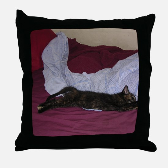 Miss Calico-M Throw Pillow