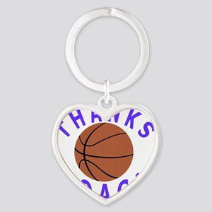 Thank You Basketball Coach Gifts Heart Keychain