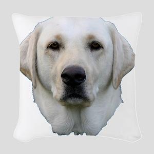 white lab Woven Throw Pillow