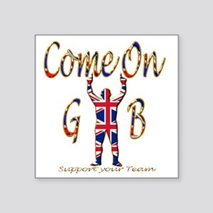 """Come on GB Support your Tea Square Sticker 3"""" x 3"""""""