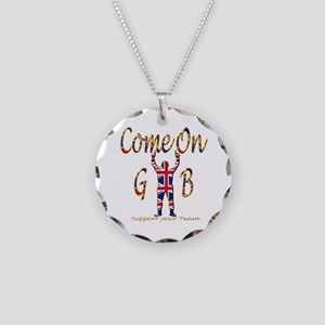 Come on GB Support your Team Necklace Circle Charm
