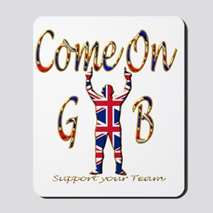 Come on GB Support your Team Mousepad