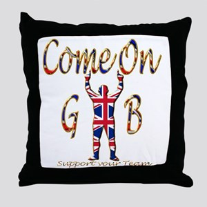 Come on GB Support your Team Throw Pillow