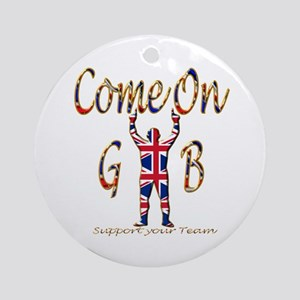 Come on GB Support your Team Round Ornament