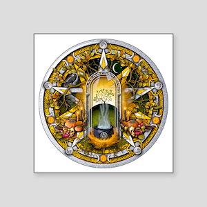 "Samhain Pentacle Square Sticker 3"" x 3"""