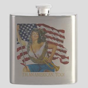 cafepresslatinaflag1010 Flask