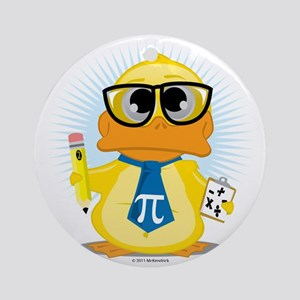 Math-Duck Round Ornament
