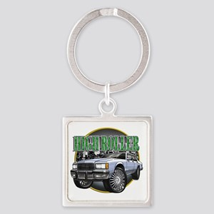 Donk_Caprice_Silver Square Keychain