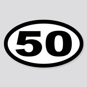 Ultramarathon 50 Mile Oval Sticker