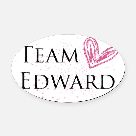 Team Edward Oval Car Magnet