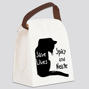 circle-savelivescat Canvas Lunch Bag