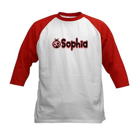Sophia Ladybug 2 Kids Baseball Jersey