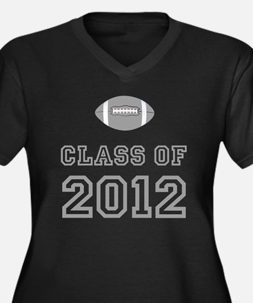 CO2012 Footb Women's Plus Size Dark V-Neck T-Shirt