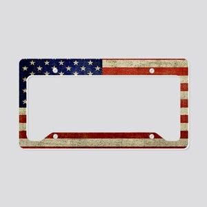 5x3rect_sticker_american_flag License Plate Holder