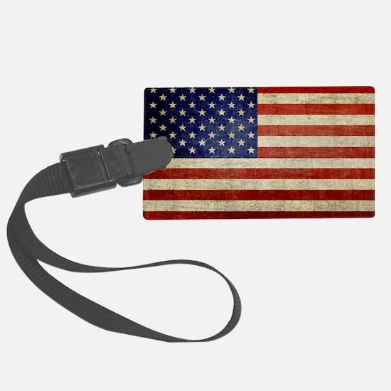 5x3rect_sticker_american_flag_ol Luggage Tag