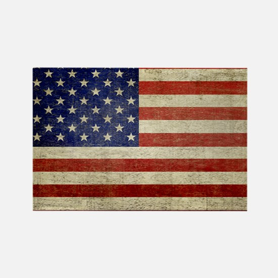 5x3rect_sticker_american_flag_old Rectangle Magnet