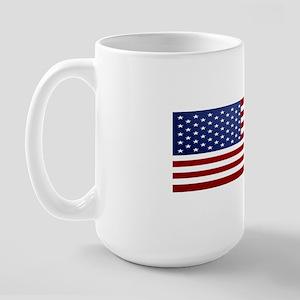 10x3_sticker_american_flag Large Mug