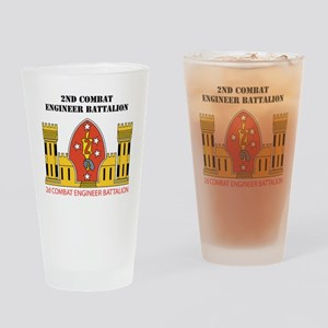 SSI- 2ND COMBAT ENGINEER  BN  WITH  Drinking Glass
