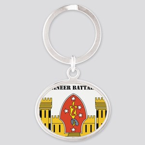 SSI- 2ND COMBAT ENGINEER  BN  WITH T Oval Keychain