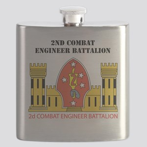 SSI- 2ND COMBAT ENGINEER  BN  WITH TEXT Flask