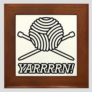 yarrrrn inked Framed Tile