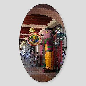 Pepper Man-Mosaic Sticker (Oval)