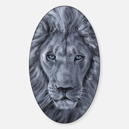 Bold Lion Sticker (Oval)