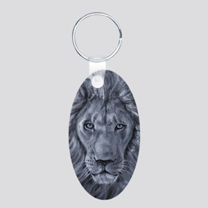 Bold Lion Aluminum Oval Keychain