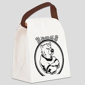 Bears Team Mascot Design Canvas Lunch Bag