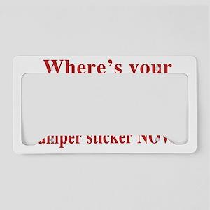 obama sticker(blk) License Plate Holder